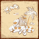 Retro vacation background Royalty Free Stock Image