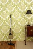 Retro vacuum cleaner vintage sixties wallpaper Stock Image