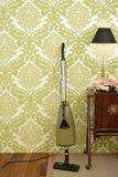 Retro vacuum cleaner vintage sixties wallpaper Stock Photo