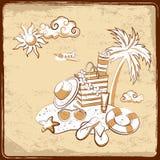 Retro vakantieachtergrond Royalty-vrije Stock Afbeelding