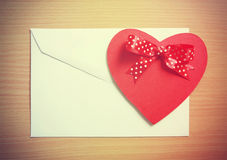 Retro,  Valentine card Royalty Free Stock Photo