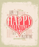 Retro Valentine card design Stock Photo