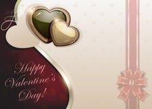 Retro Valentine card Royalty Free Stock Photos