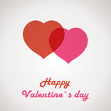 Retro valentine card with two hearts Royalty Free Stock Photography