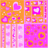Retro valentine designs Royalty Free Stock Photos