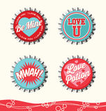 Retro valentine designs Stock Image