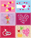 Retro Valentine Elements Royalty Free Stock Images