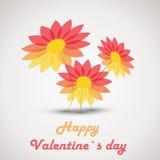 Retro valentine flowers Stock Photo