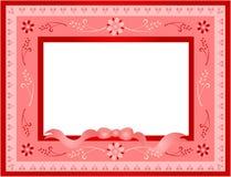 Retro Valentine frame Stock Image