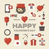 Retro valentine icon Royalty Free Stock Photography