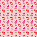 Retro valentine pattern with hearts.  Royalty Free Stock Photography