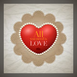 Retro Valentine's Day Card Royalty Free Stock Image