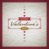 Retro Valentine's Day Card Stock Photography