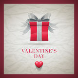 Retro Valentine's Day Card Stock Photos