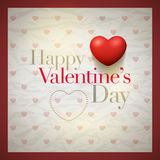 Retro Valentine's Day Card Stock Images