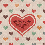 Retro Valentine's day greeting card Royalty Free Stock Photography