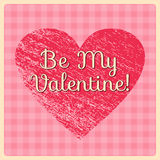 Retro Valentine`s Day greeting card. Vector illustration. Royalty Free Stock Photography