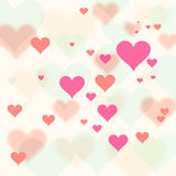Retro Valentine's Day Hearts background Royalty Free Stock Photo