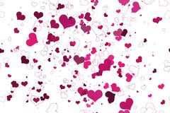 Retro valentine seamless pattern with hearts Royalty Free Stock Images