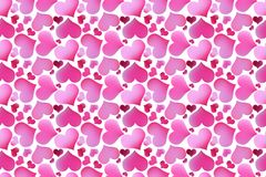 Retro valentine seamless pattern with hearts Royalty Free Stock Photography
