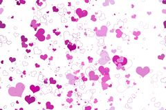 Retro valentine seamless pattern with hearts Stock Photography