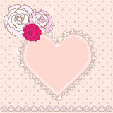 Retro Valentine vignette Royalty Free Stock Photo
