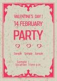 Retro valentines dagaffiche stock illustratie