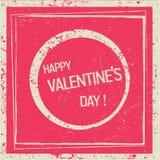 Retro valentines dagkaart vector illustratie