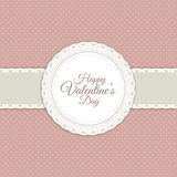 Retro valentines day background Stock Image