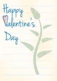 Retro valentines day background Stock Image