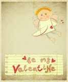 Retro Valentines Day Card Royalty Free Stock Photo