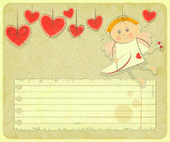 Retro Valentines Day Card Royalty Free Stock Images