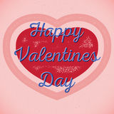 Retro Valentines Day card with shifted colors Royalty Free Stock Image