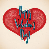 Retro Valentines Day card with shifted colors Royalty Free Stock Photos