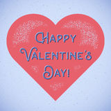 Retro Valentines Day card with shifted colors Stock Photography