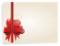 Retro Valentines Day card Stock Images