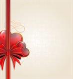 Retro Valentines Day card Stock Photo