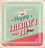 Retro Valentines Day Card vector. Valentines day card, retro background, vintage love vector design template Stock Image