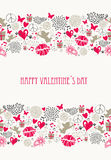 Retro Valentines day postcard collection Stock Image