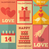 Retro Valentines posters collection Royalty Free Stock Photo
