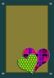 Retro- Valentinsgruß Stockbilder