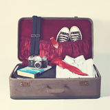 Retro valigia Fotografia Stock