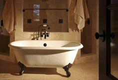 Retro vasca della stanza da bagno del piede della branca Immagine Stock