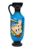 Retro vase with ornament Stock Photo