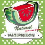 Retro vattenmelonaffisch Royaltyfria Bilder