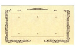 Retro vecchia carta reale Fotografia Stock