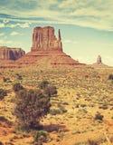 Retro vecchia foto di stile del film della valle del monumento, U.S.A. Fotografie Stock