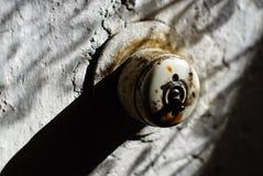 Retro vecchia sporcizia dell'interruttore basculante sporca Fotografia Stock Libera da Diritti