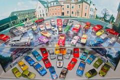Retro vecchie automobili del giocattolo dell'annata Fotografia Stock
