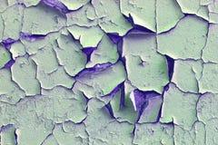 Retro vecchio modello incrinato verde della pittura Immagini Stock Libere da Diritti
